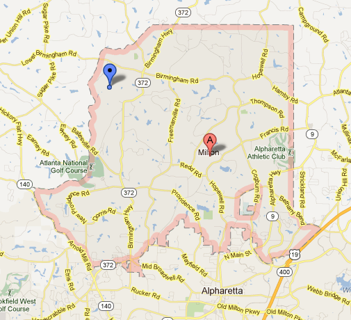 Map Of Milton About Milton, GA   Move To Milton